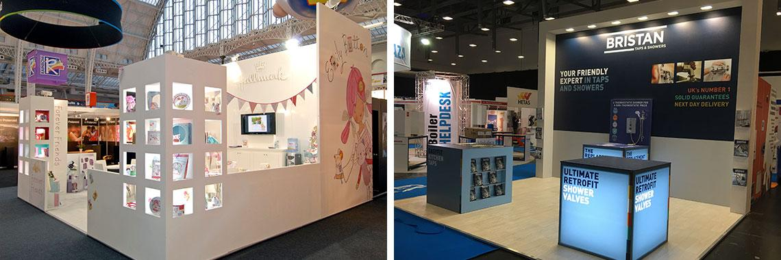 Exhibition Stand Wraps : Exhibition signage event displays andesign uk